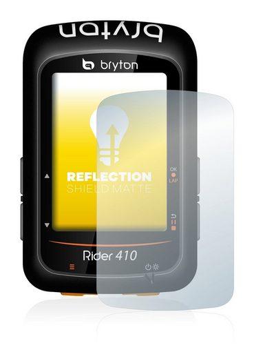 upscreen Schutzfolie »für Bryton Rider 410«, Folie Schutzfolie matt entspiegelt