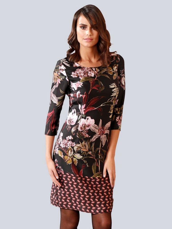 Festtagsmode - Alba Moda Kleid im ausdrucksstarken Blumenmuster allover › schwarz  - Onlineshop OTTO