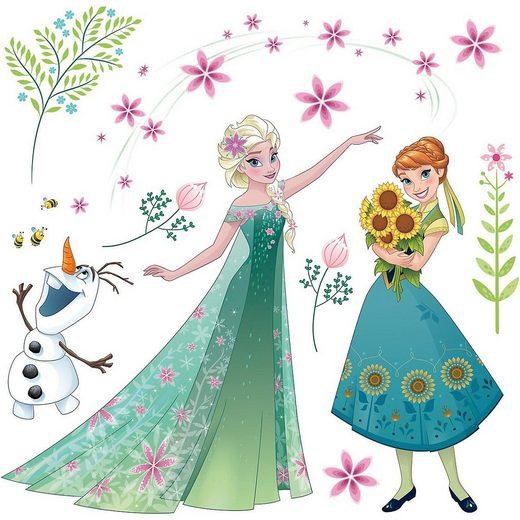 Fenstersticker »Fenstersticker Disney Frozen Flower, 19-tlg.«, Komar