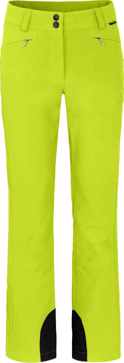 Bergson Skihose »SAIMAA« sportliche Damen Softshell Skihose, Kurzgrößen, leuchtend grün