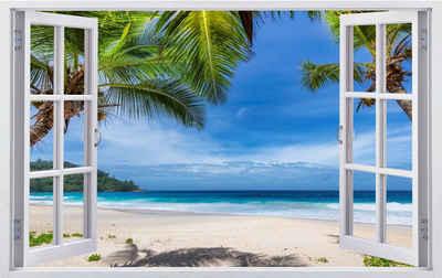 DesFoli Wandtattoo »Strand Palmen Meer Insel Karibik F2502«