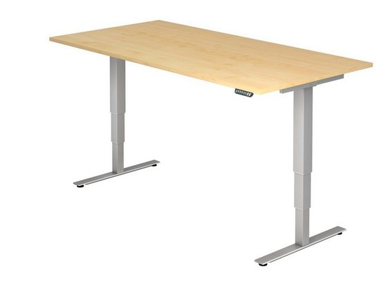 bümö Schreibtisch »OM-XDSM2E«, elektrisch höhenverstellbar mit Memoryfunktion - Rechteck: 200x100 cm - Dekor: Ahorn