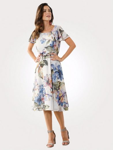 Mona Kleid mit Aquarell-Druck
