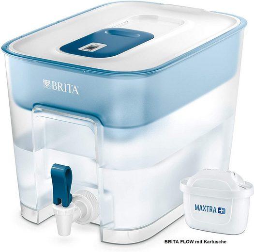 BRITA Wasserfilter Brita Tischwasserfilter Flow, MAXTRA+ MicroFlow Technologie – eine leistungsstarke BRITA Innovation – effektiv und einfach Kalk, leitungsbedingt vorkommende Metalle wie Blei und Kupfer sowie geschmacksstörende Stoffe im Wasser reduziert (z.B. Chlor).