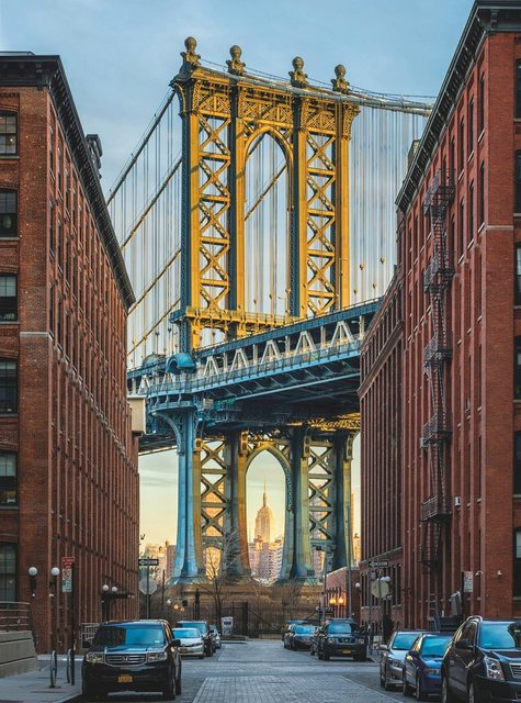 Komar Vlies-Fototapete, Brooklyn, 184/248 cm