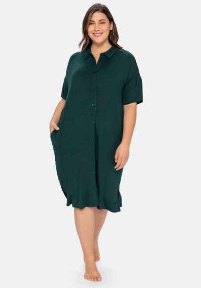 Sheego Nachthemd im Hemdblusenstil mit seitlichen Taschen
