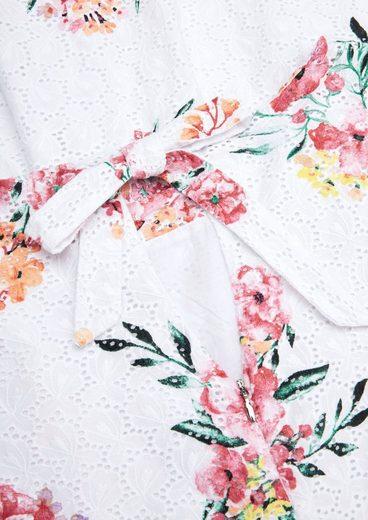 s.Oliver Minikleid mit sommerlichem Blumenmuster