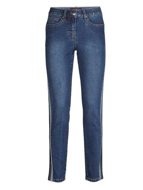 Hosen - Amy Vermont Jeans mit seitlich aufgesetztem Zierstreifen › blau  - Onlineshop OTTO