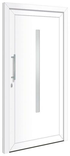 RORO TÜREN & FENSTER Kunststoff-Haustür »Otto 20«, BxH: 100x210 cm, weiß, ohne Griff