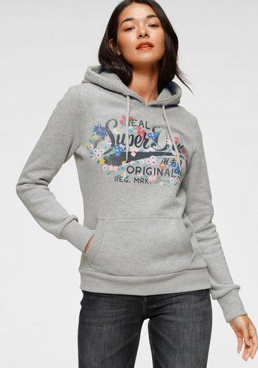 Superdry Kapuzensweatshirt »REAL ORIGINALS FLORAL HOOD« im floralem Vintage Design in Premium Qualität