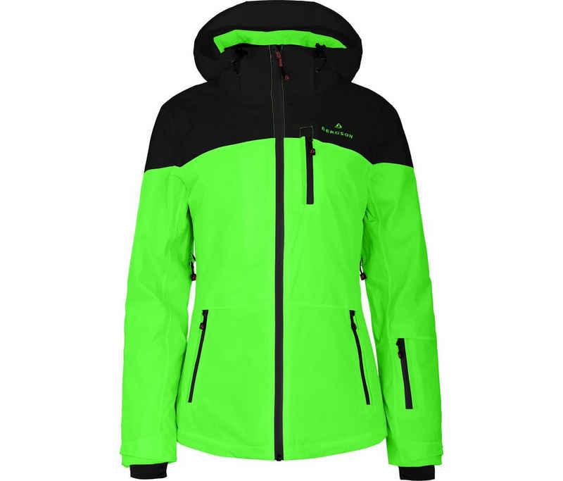 Bergson Skijacke »NUOLJA« Damen Skijacke, wattiert, 20000mm Wassersäule, Normalgrößen, Gecko grün