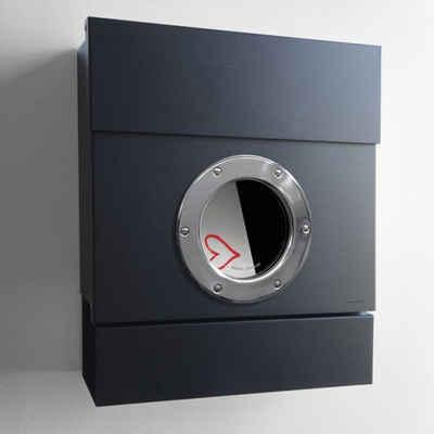 Radius Briefkasten »Briefkasten LETTERMAN II schwarz mit Zeitungsrolle«
