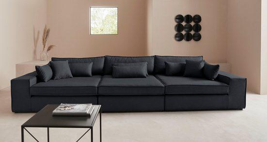 LeGer Home by Lena Gercke 3-Sitzer »Joreen«, 3 Teile, zusammengesetzt aus Modulen, in vielen Bezugsqualitäten und Farben