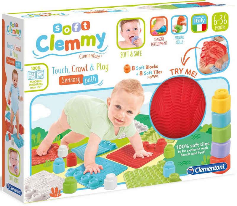 Clementoni® Spielbausteine »Clemmy Soft - Sensorische Spielmatten«, (16 St)