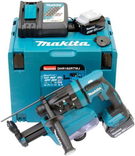 Makita Akku-Kombibohrhammer »DHR182RTWJ«, max. 13250 U/min, (Set), 18 V, SDS+, inkl. 2 Akkus