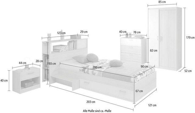 Komplettzimmer - Parisot Jugendzimmer Set »Charly 16«, (Set, 5 St), mit einem Kleiderschrank  - Onlineshop OTTO