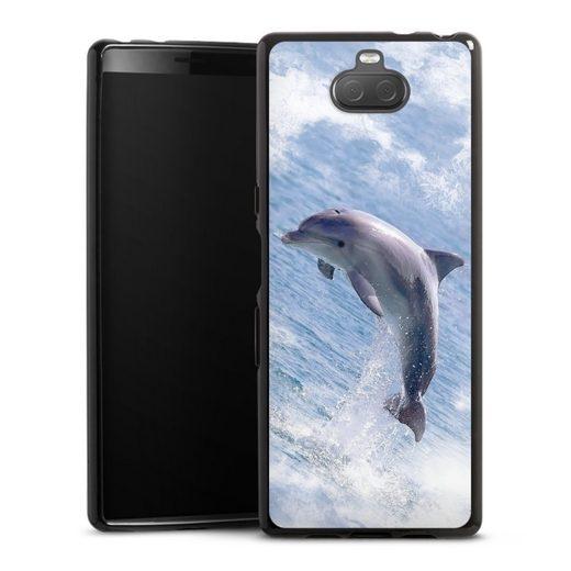 DeinDesign Handyhülle »Springender Delphin« Sony Xperia 10, Hülle Delfine Meer Wal
