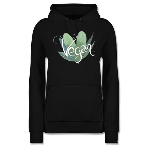 Shirtracer Hoodie »Vegan Lettering - Statement - Damen Premium Kapuzenpullover - Pullover & Hoodies« statement shirts damen