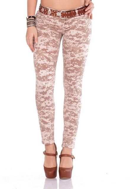 Hosen - Cipo Baxx Bequeme Jeans im Skinny Fit Schnitt und coolem Gürtel ›  - Onlineshop OTTO