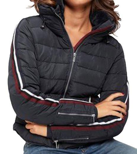 ZABAIONE Winterjacke »Zabaione Miriam Stepp-Jacke ausdrucksstarke Damen Schnee-Jacke mit Streifen auf den Armen Outdoor-Jacke Dunkelblau«