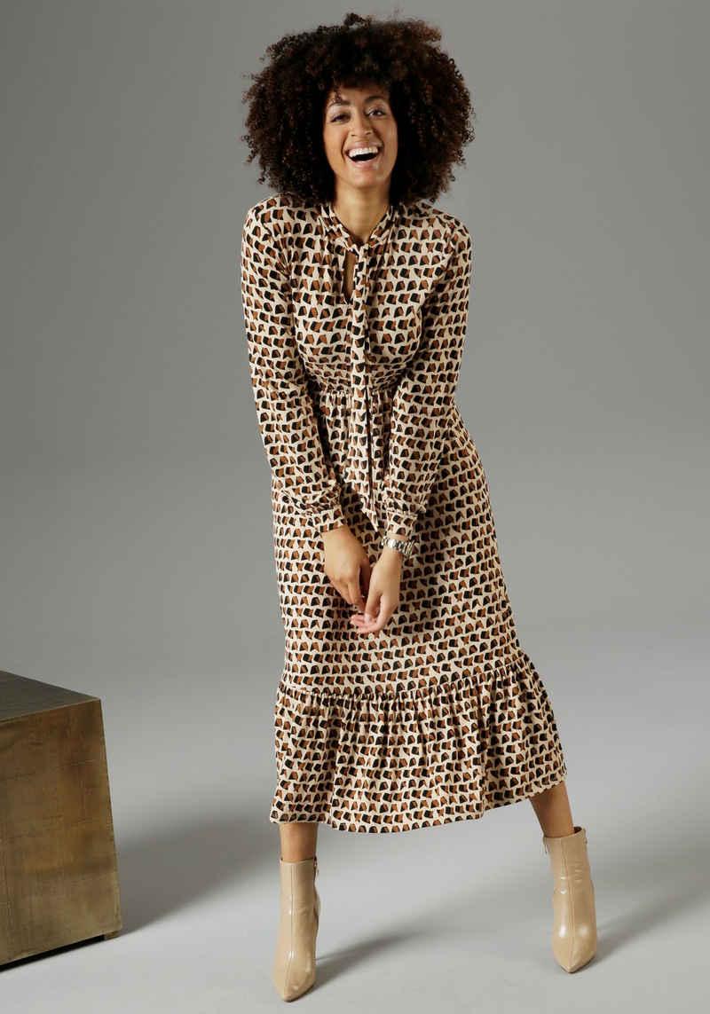 Aniston SELECTED Jerseykleid mit Schluppe am Ausschnitt - NEUE KOLLEKTION