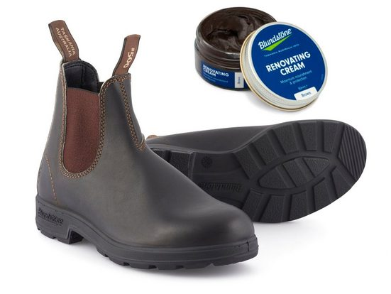 Blundstone »Original Stout Premium 500 (Set mit Renovating Cream)« Chelseaboots