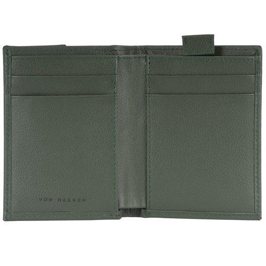 VON HEESEN Mini Geldbörse »Slim Wallet mit 15 Kartenfächern (grün)«