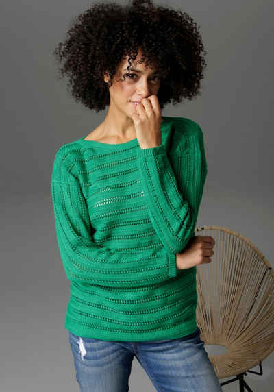 Aniston CASUAL Strickpullover in trendiger Farbpalette