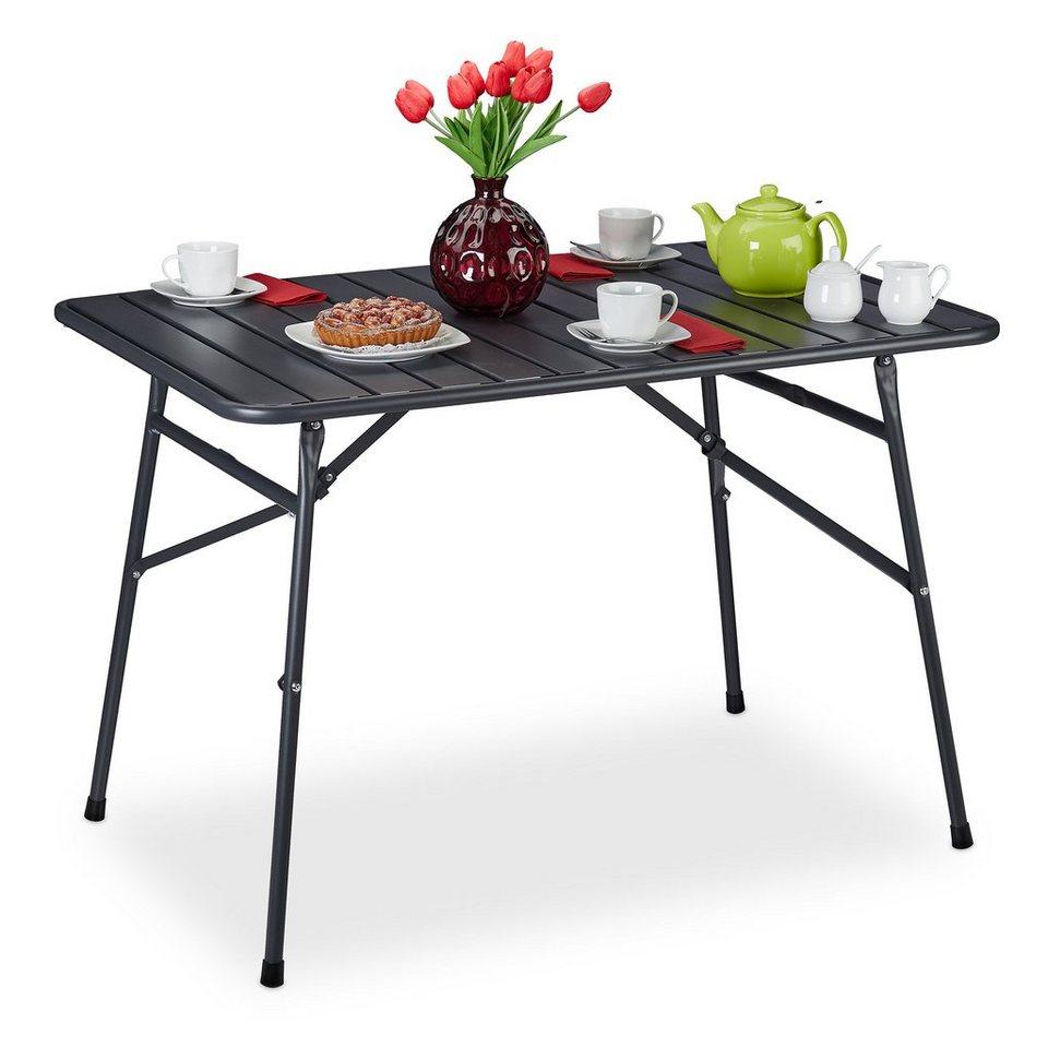 Relaxdays Gartentisch Gartentisch Klappbar Metall Online Kaufen Otto