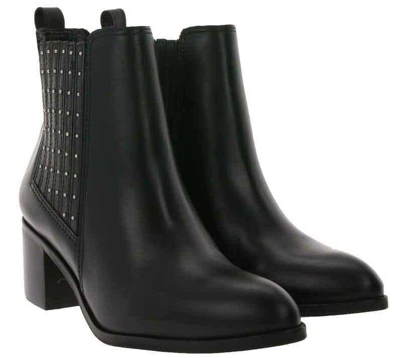 Dune London »Dune London Stiefeletten elegante Damen Echtleder Ausgeh-Stiefeletten Trend-Boots mit Schmucksteinen Schwarz« Stiefelette