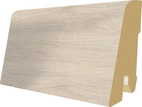 EGGER Sockelleiste »L547 - Monfort Eiche weiss«, L: 240 cm, H: 6 cm