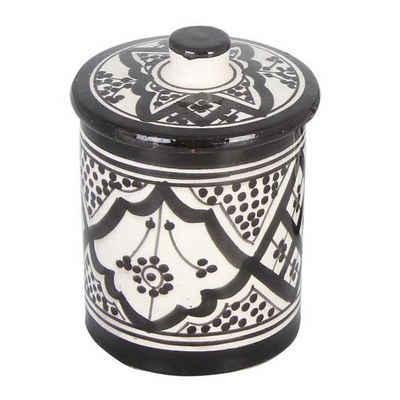 Casa Moro Zuckerdose »Handbemalte Keramik Zuckerdose aus Marokko, KSF048«, Keramik, (1-tlg)