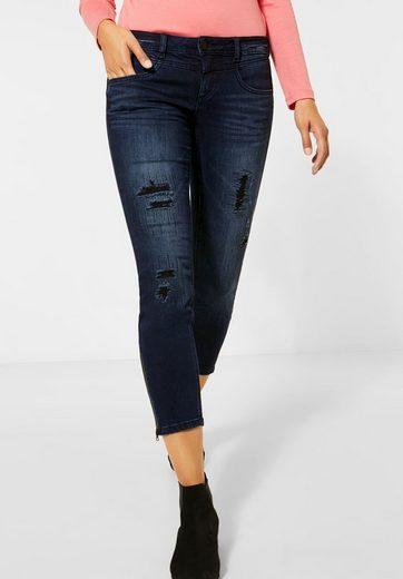 STREET ONE Comfort-fit-Jeans mit destroyed Details