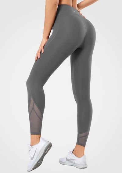 Yvette Leggings Hohe Taille, Blickdicht, mit Mesh, Fitness Yoga Sport Hosen, Streetwear - S110185A02