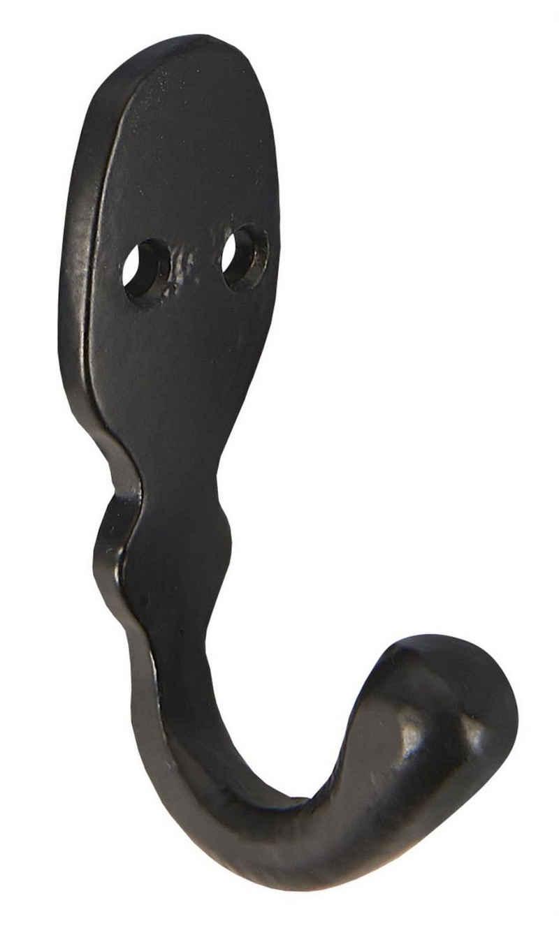Wandhaken »Wandhaken Kleiderhaken Handtuchhaken Metall Schwarz Vintage Ib Laursen 056425«, Ib Laursen