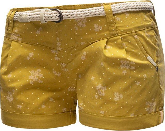 Hosen - Ragwear Shorts »Heaven Organic« (2 tlg) leichte Hotpants mit hochwertigem Flechtgürtel › gelb  - Onlineshop OTTO