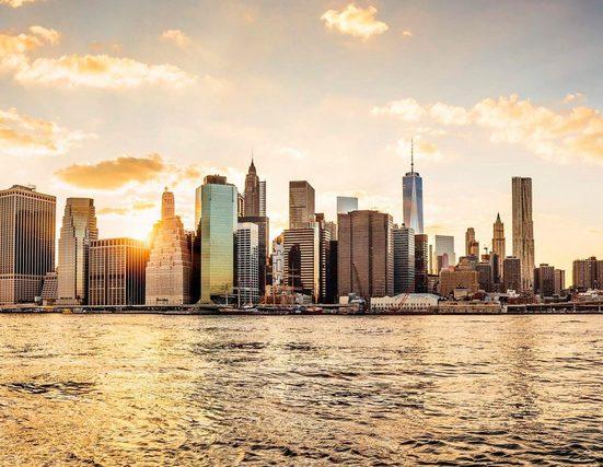 LIVINGWALLS Fototapete »New York City Manhattan Skyline«