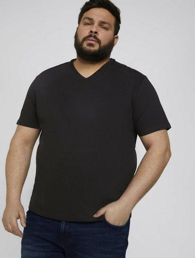 TOM TAILOR Men Plus T-Shirt »Basic T-Shirt im Doppelpack«
