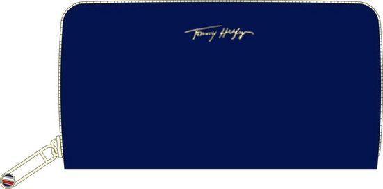 TOMMY HILFIGER Geldbörse, mit goldfarbenen Details und praktischer Inneneinteilung