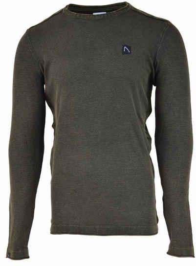 CHASIN' Strickpullover »BASAL WASHED Pullover« (1-tlg)