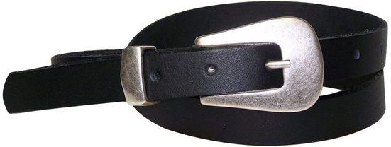 FRONHOFER Taillengürtel »17426« schmaler Gürtel 2 cm mit mattsilberner Gürtelschnalle & Metallschlaufe