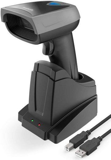 Inateck Bluetooth Barcode Scanner 1D, Wireless Barcode Scanner mit Smarter Ladestation Handscanner