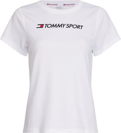 TOMMY SPORT Funktionsshirt »PERFORMANCE CHEST LOGO TOP« aus Mesh-Ware mit markentypischem Logoprint
