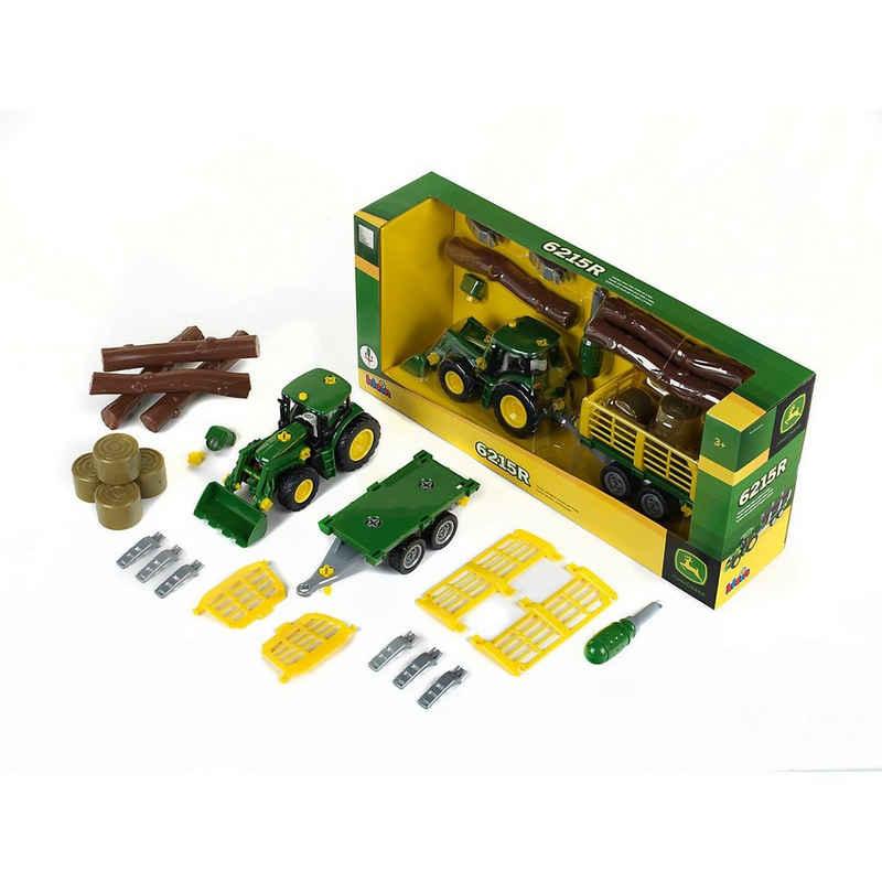 Klein Spielzeug-Auto »John Deere Traktor mit Holz- und Heuwagen«