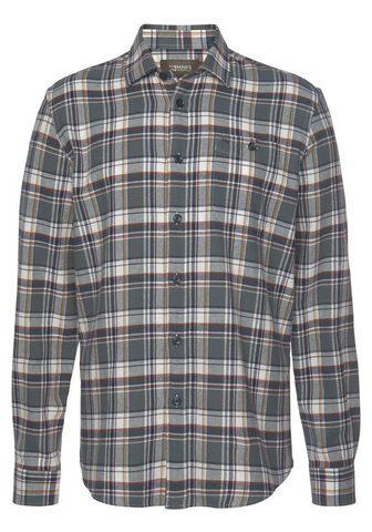 Man's World Flaneliniai marškiniai Modisches Großk...