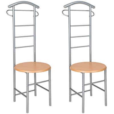 tectake Herrendiener »2 Herrendiener mit Sitzfläche«