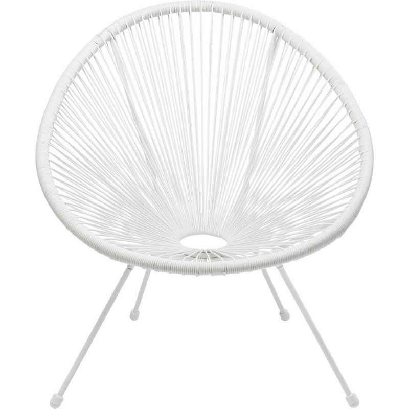 KARE Sessel »Sessel Acapulco Weiß«, Gestell: Stahl pulverbeschichtet, Sitzschale: Polyethylen