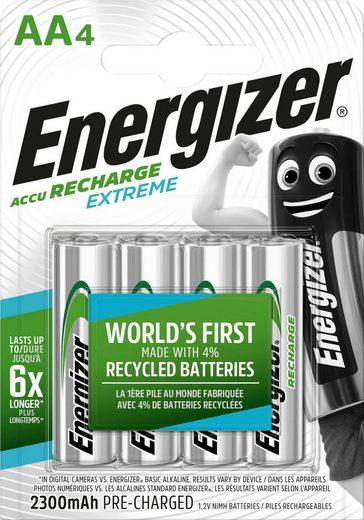 Energizer »Akku Recharge Extreme AA 4x 2300 mAh« Batterie