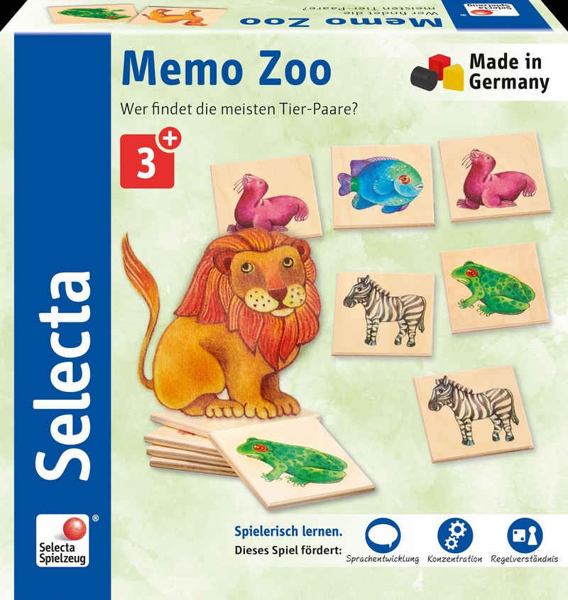 Selecta Spiel, »Memo Zoo«, aus Holz, Made in Germany