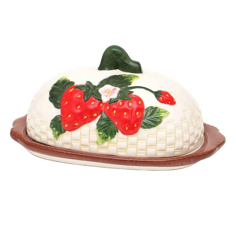 SIGRO Butterdose »Dolomite Butterdose Fragola«, Keramik, (2-tlg)